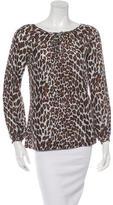 Tory Burch Reva Leopard Silk Top w/ Tags