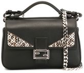 Fendi micro 'Double Baguette' crossbody bag - women - Calf Leather/Snake Skin/metal - One Size