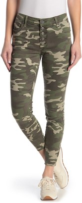 KUT from the Kloth Connie High Rise Ankle Skinny Camouflage Jeans (Regular & Plus Size)
