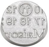 Maison Margiela Silver Round Logo Ring