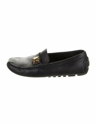 Louis Vuitton Leather Loafers Blue