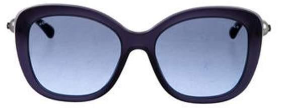 Chanel CC Pearl Sunglasses Blue CC Pearl Sunglasses