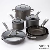 Calphalon Cooking with easy-system 10-pc. nonstick hard-anodized cookware set