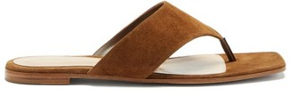 Gianvito Rossi Thong Suede Sandals - Brown