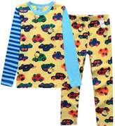 XiaoYouYu Big Boy's Contrast Color Car Print Cotton Pajama Sets US Size 4T