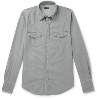 Tom Ford Mickey Slim-Fit Denim Western Shirt