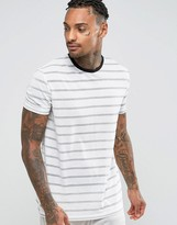 Asos Metallic Stripe T-shirt