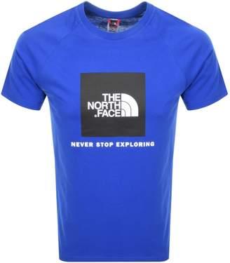 The North Face Raglan Redbox T Shirt Blue
