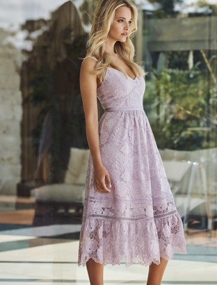 Forever New Meadow Lace Midi Dress - Lilac - 4