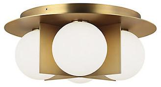 Tech Lighting Orbel Flush Mount - Aged Brass