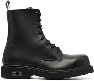Cult Bolt leather combat boots