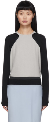 Haider Ackermann Grey and Black Contrast Insert Blouse