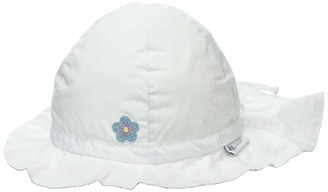 Sterntaler Girls Sun Hat with Ties and Neck Protection Age: 9-12 months Size: 47