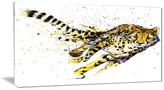"Fabuart ""Cheetah Illustration Artwork"" Animal Canvas Print, 32""x16"""