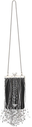 Prada Beaded Fringe Clutch Bag