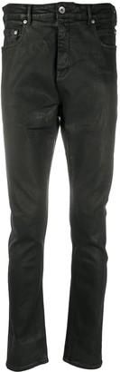 Rick Owens Waxed Skinny Jeans