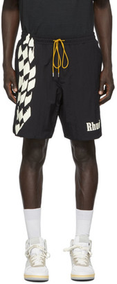 Rhude Black Track Swim Shorts