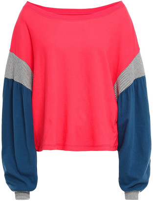 Current/Elliott The Two Step Striped Cotton-jersey Top