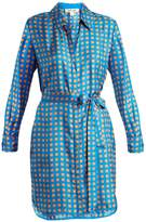 Diane von Furstenberg Square-print silk dress