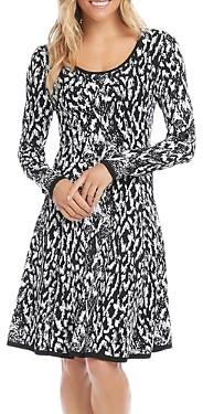 Karen Kane Jacquard Knit Dress