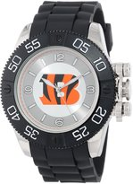Game Time Men's NFL-BEA-CIN Beast Round Analog Watch