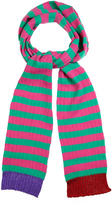 Gucci Striped cashmere and wool-blend skinny scarf