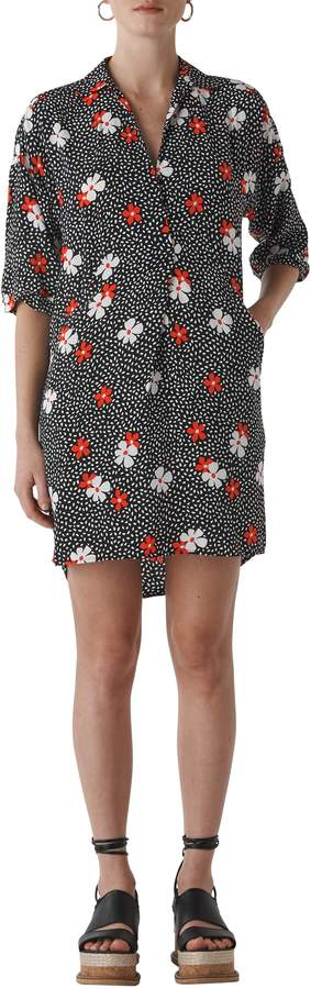 Whistles Lola Floral Confetti Print High/Low Dress