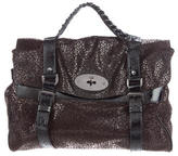 Mulberry Embossed Alexa Satchel
