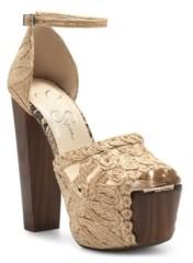 Jessica Simpson Women's Dessie Block Heel Platform Dress Sandals Women's Shoes