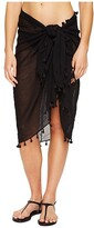 Seafolly Cotton Gauze Sarong (Black) Women's Swimwear