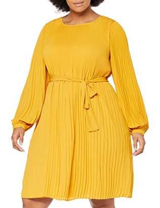 Zizzi Women's Casual Kleider Dress, (Yellow 1238), (Size: XL 54/56)