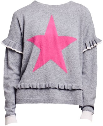 Lam Freya Star Slogan Jumper - Grey / Pink
