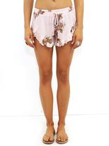 West Coast Wardrobe Hot Springs Ruffle Short in Rose Latte