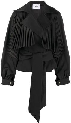 Atu Body Couture Pleat-Embellished Jacket
