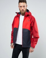 The North Face Sequence Jacket Hooded 3 Colour In Navy/red