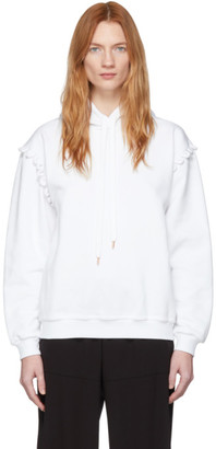 See by Chloe White Scallop Shoulder Detail Hoodie