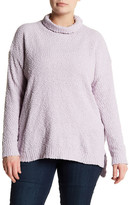 Joseph A Textured Cowl Neck Sweater (Plus Size)