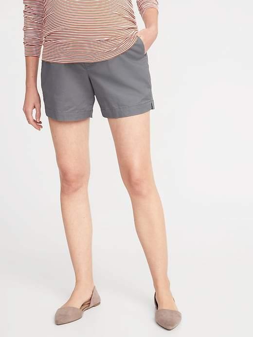 37b3c04d65 Gray Maternity Shorts - ShopStyle