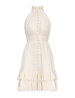 Zimmermann Pleated Lace Picnic Mini