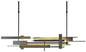 "Hubbardton Forge Planar 1-Light Kitchen Island Linear LED Pendant Finish: Mahogany, Size: 62.4"" H x 8.5"" W x 8.5"" D"