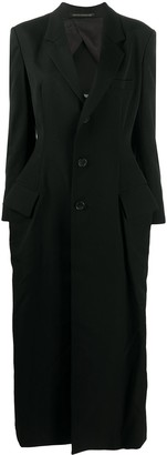 Yohji Yamamoto Single-Breasted Wool Coat