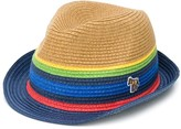 Paul Smith colour block fedora hat