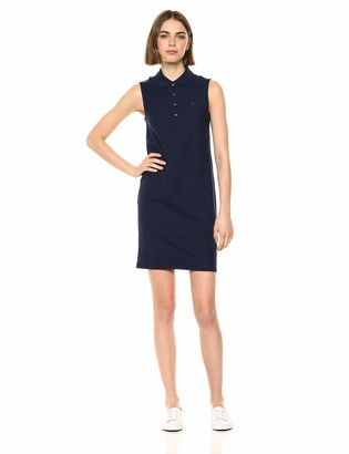Lacoste Women's Sleeveless Classic Micro Pique Polo Dress Ef3059