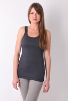 Coal 1 x 1 Sleeveless Fitted Tank