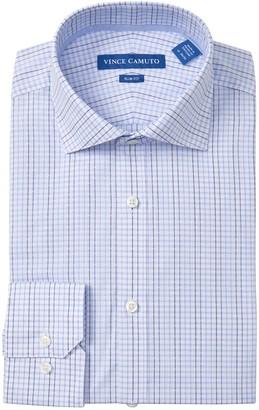 Vince Camuto Checkered Slim Fit Dress Shirt