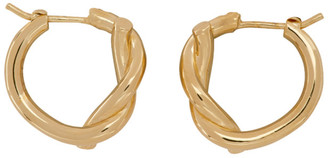 Bottega Veneta Gold and Silver Bi-Color Knot Earrings