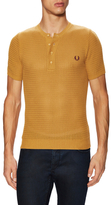 Fred Perry Open Knit Crewneck Henley