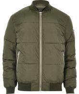 River Island MensGreen puffer jacket