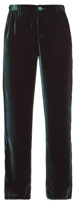 F.R.S For Restless Sleepers F.R.S – For Restless Sleepers Etere Velvet Straight Leg Trousers - Womens - Green