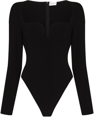 Magda Butrym Sweetheart Neckline Bodysuit